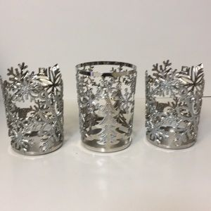 Beautiful set of 3 Bath&Body works candle holders